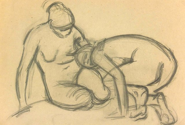 Nude Study by Max Rauh, C. 1920