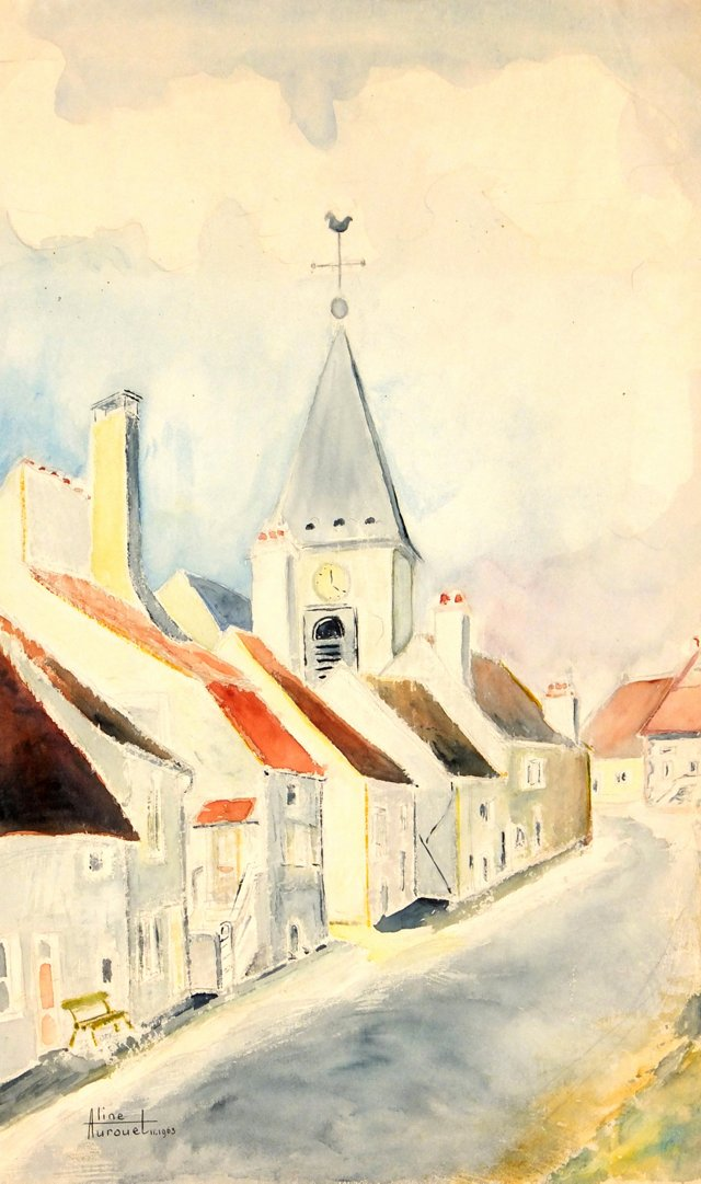 French Village Roadway, 1963