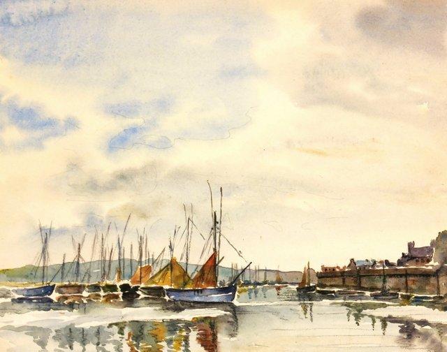 Boats at Dock, C. 1940