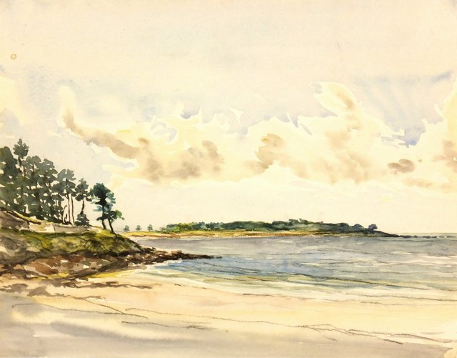 Secluded Seaside, C. 1940