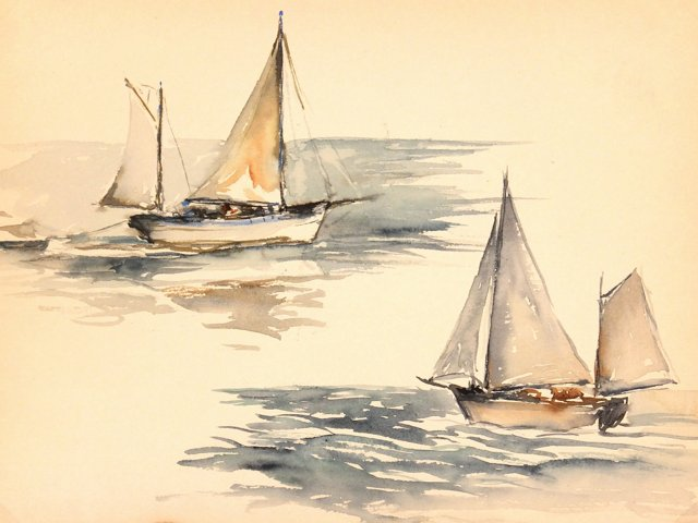 Sailboat Study, C. 1940