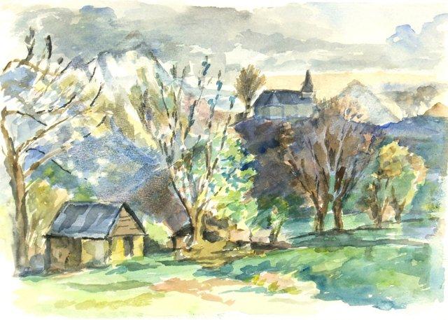 Pastoral Mountain Village, C. 1950