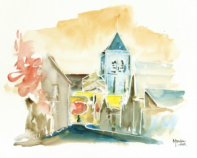 Contemporary Chapel Watercolor