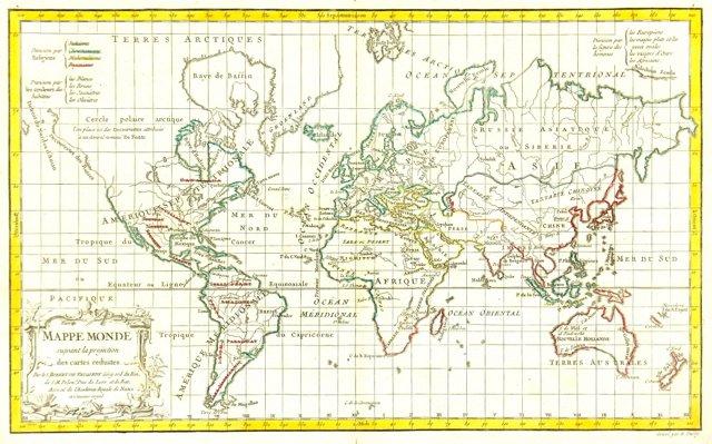World Map,   1778