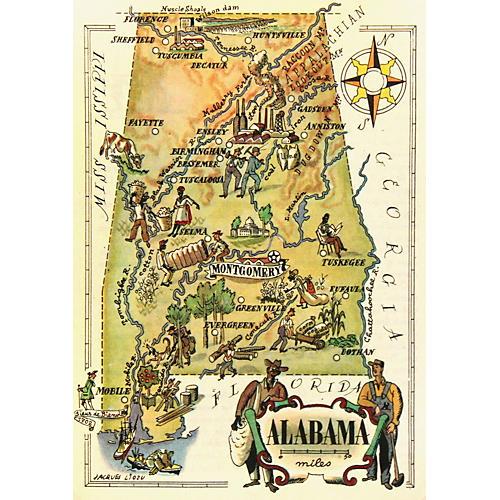 Alabama Map, 1946