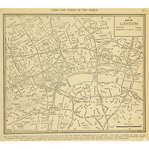 Map of Central London, 1937