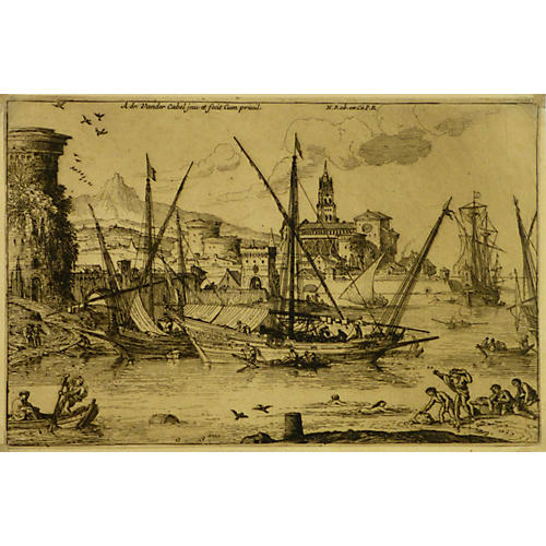 Master Engraving Port, C. 1670