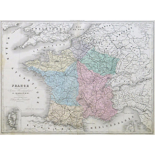 France Map, 1859