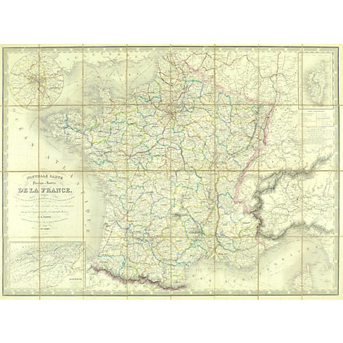 French Road Map, 1850