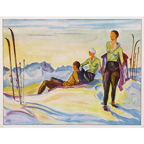 Skiing, 1929