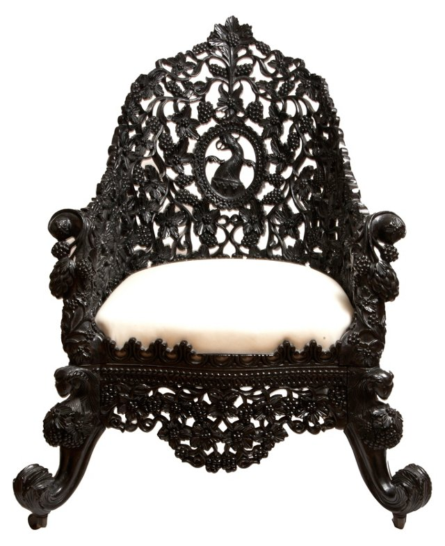 Anglo-Indian Carved Chair