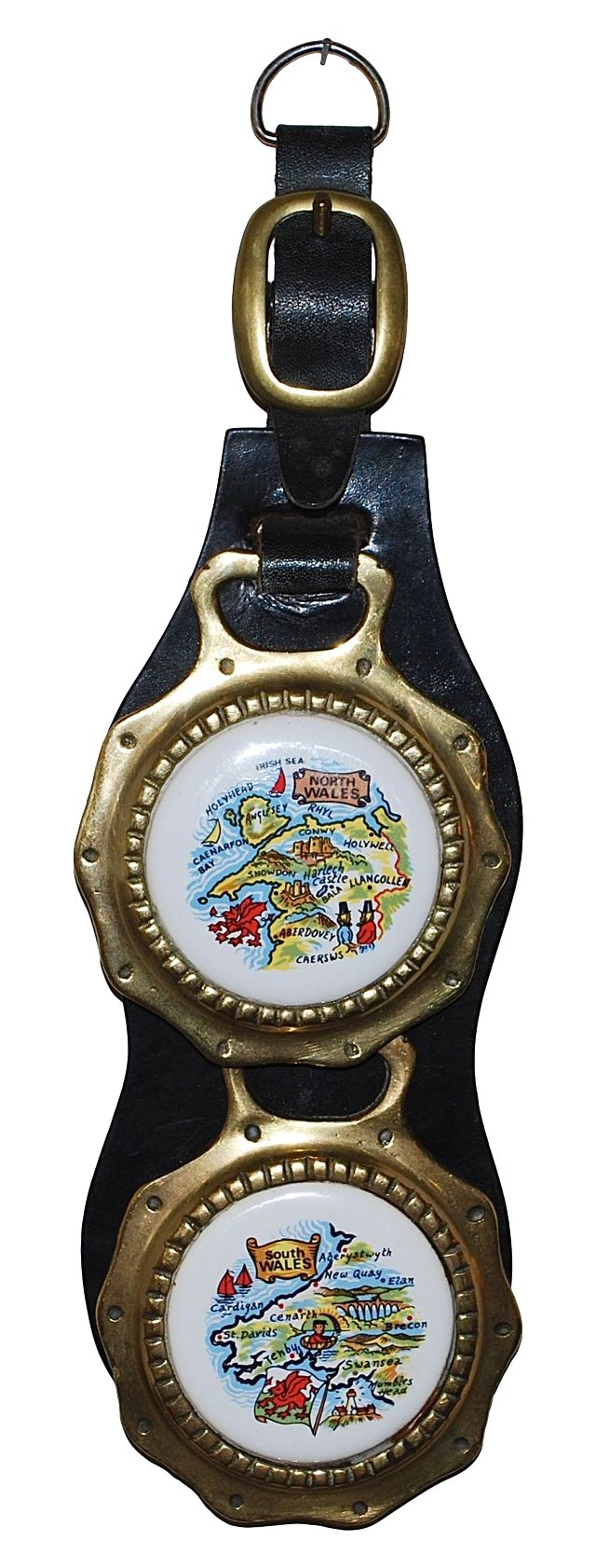 Wales Horse Brass on Leather Strap