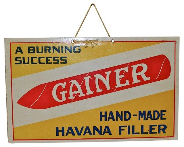 Burning Success Hanging Cigar Sign