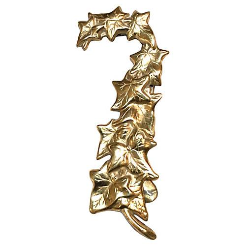 Trailing Ivy Brass Door Knocker