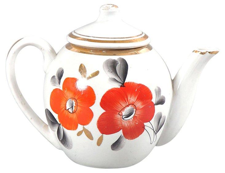 Uzbek Porcelain Teapot