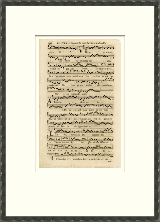 1720s French Music Sheet
