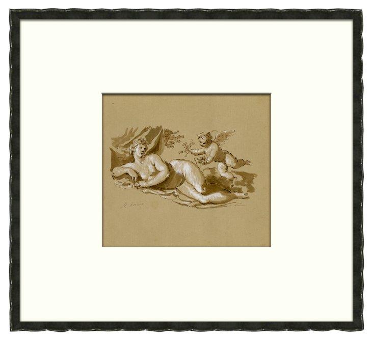 Reclining Nude by Racine