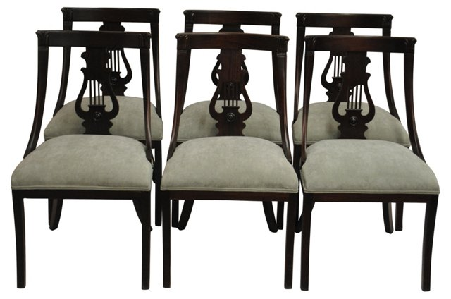 Sling-Back Dining Chairs, S/6