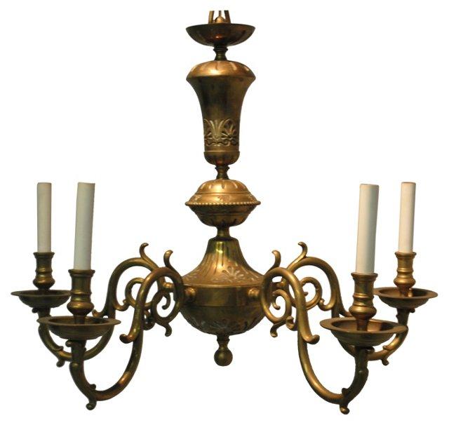 5-Arm Brass Chandelier