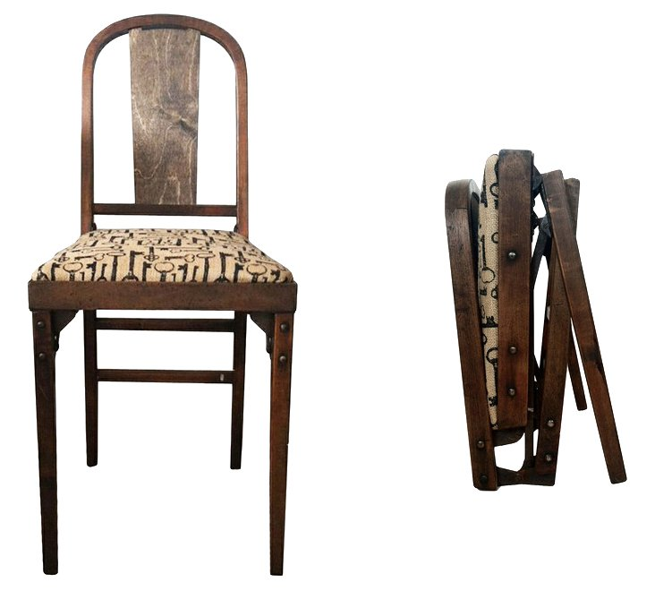 1940s Folding Chairs,     Pair