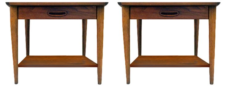 1970s Lane Side Tables, Pair