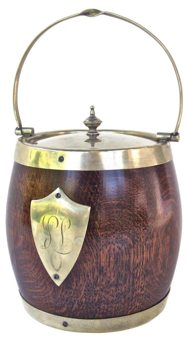 Oak Biscuit Barrel