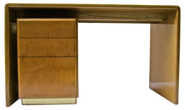 Milo Baughman Desk w/ File Cabinet
