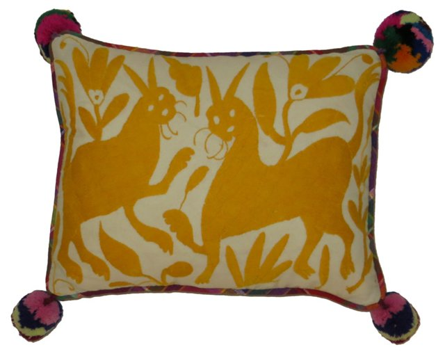 Gold Otami Embroidered   Pillow