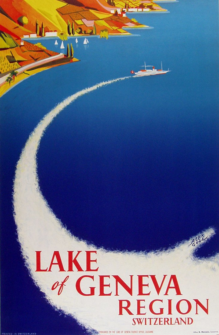 Geneva Travel Poster, C. 1945
