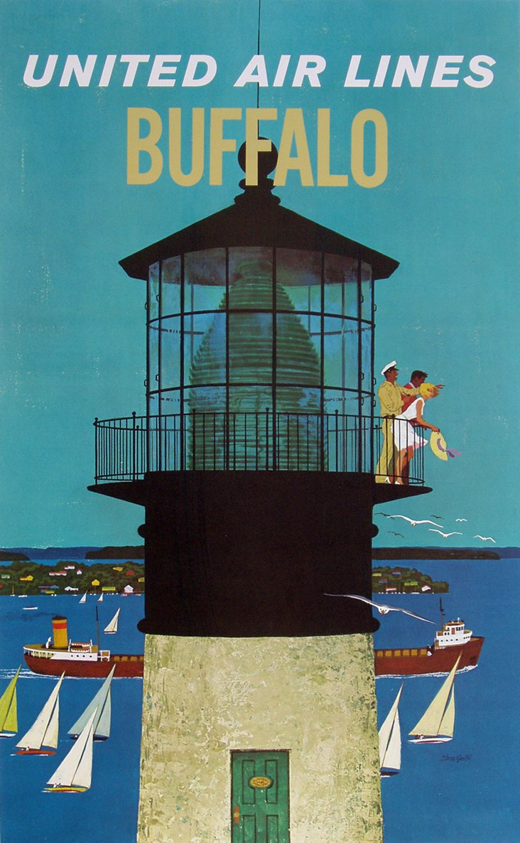 United Airlines Buffalo Poster