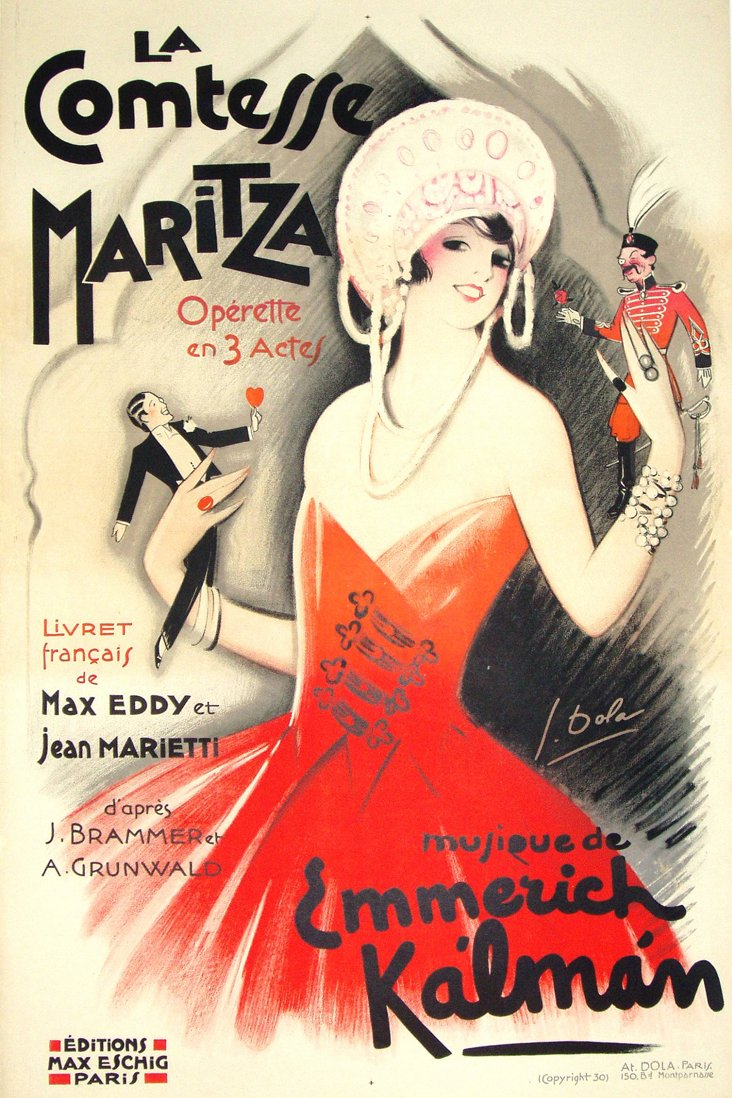 Operetta Poster by Georges Dola, 1930
