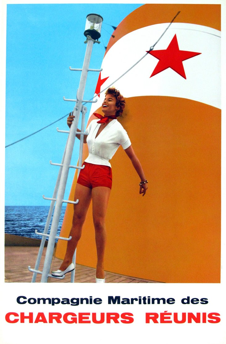 French Cruise Line Poster