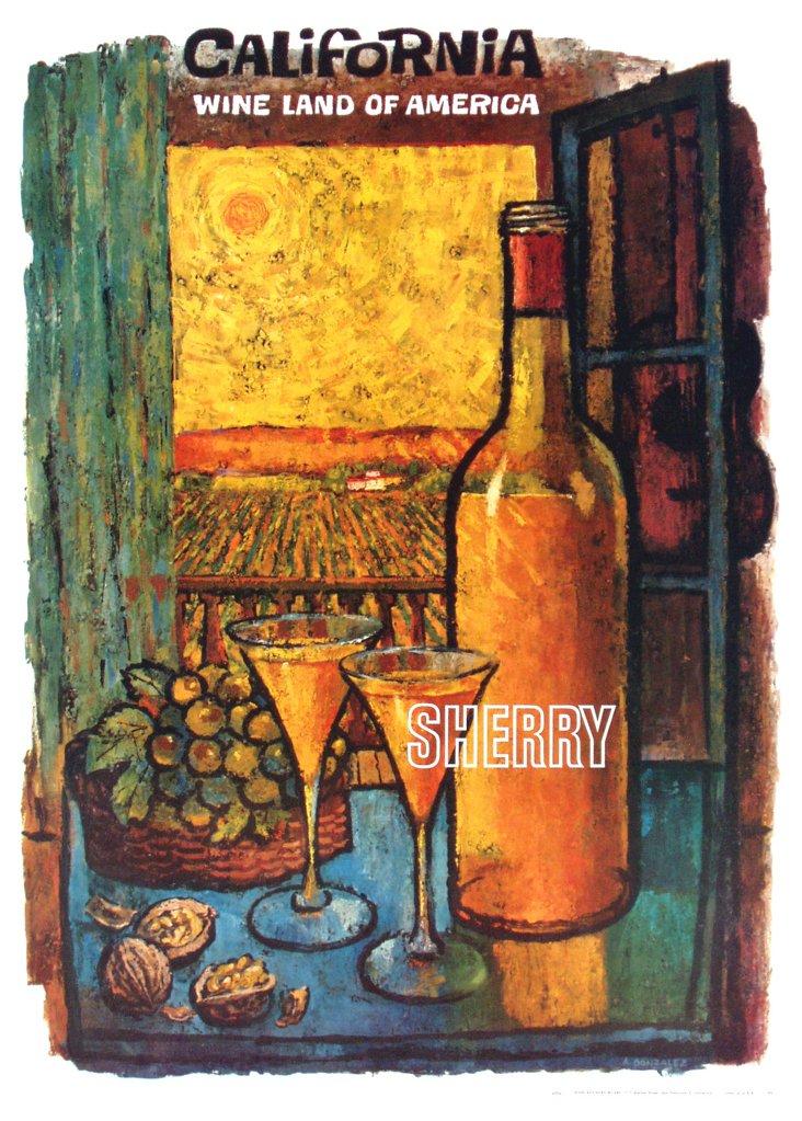 California Wine Land Sherry Poster