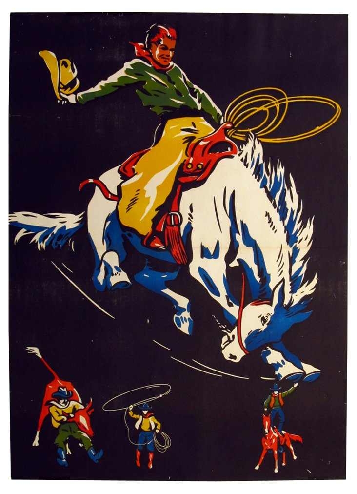 1950s Rodeo Poster