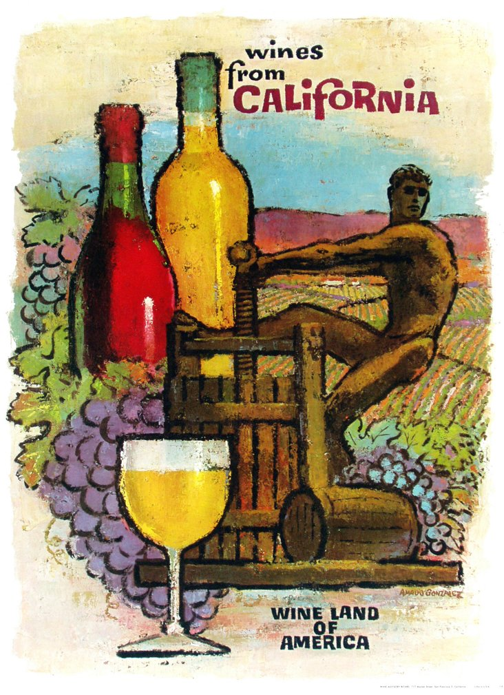 California Wine Poster