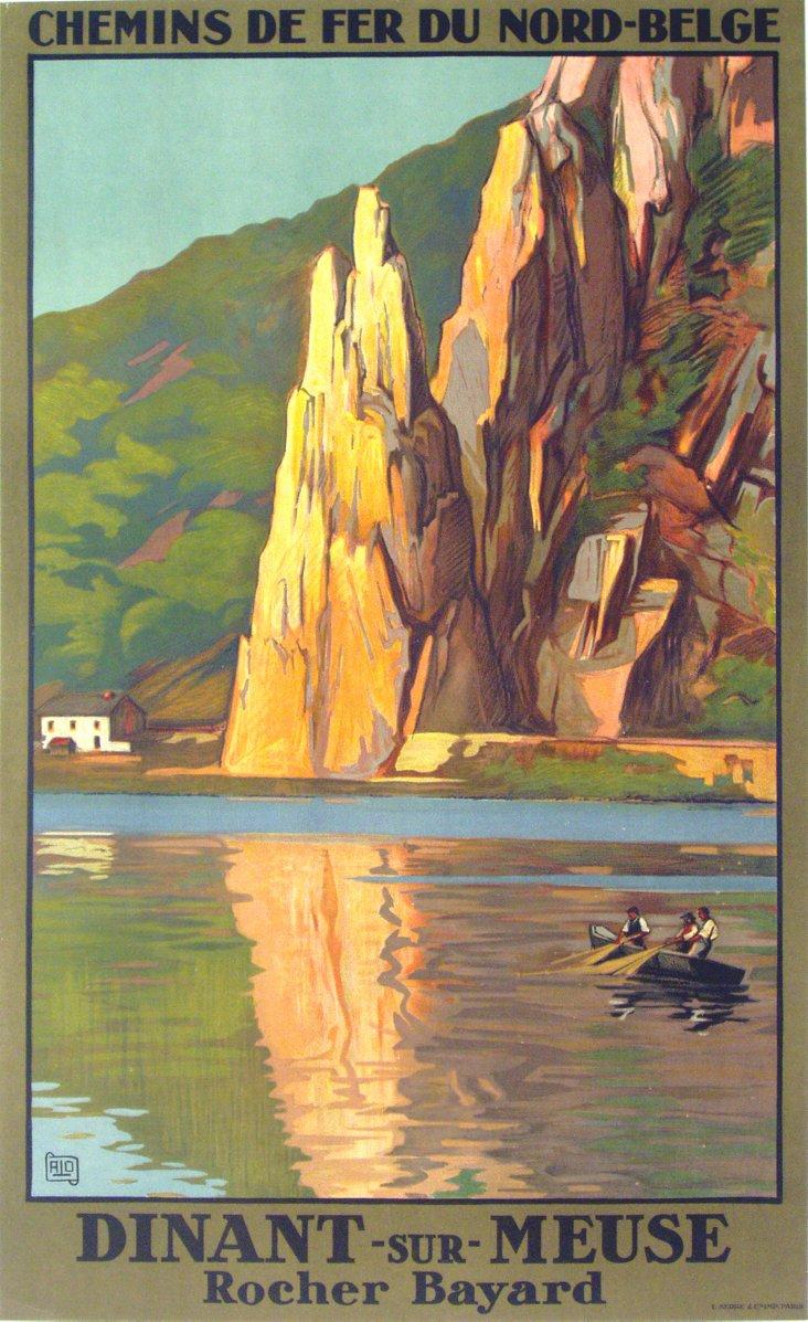 Dinant Sur Meuse Travel Poster, C. 1930