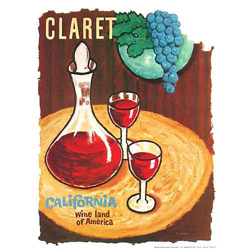 California Wine Land Claret Poster