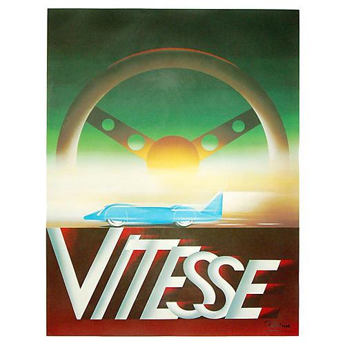 Speed Car Racing Poster, 1994