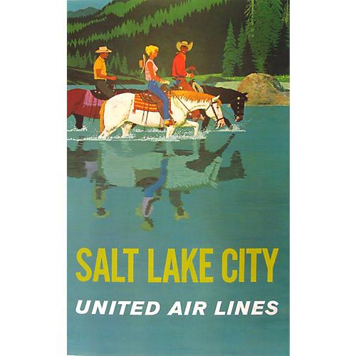 United Air Lines Salt Lake City Poster