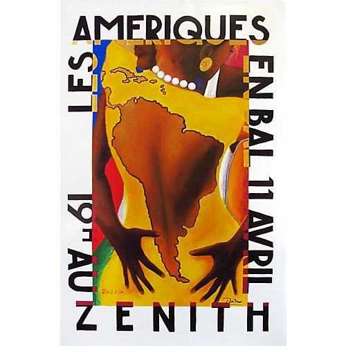Les Ameriques en Bal Poster