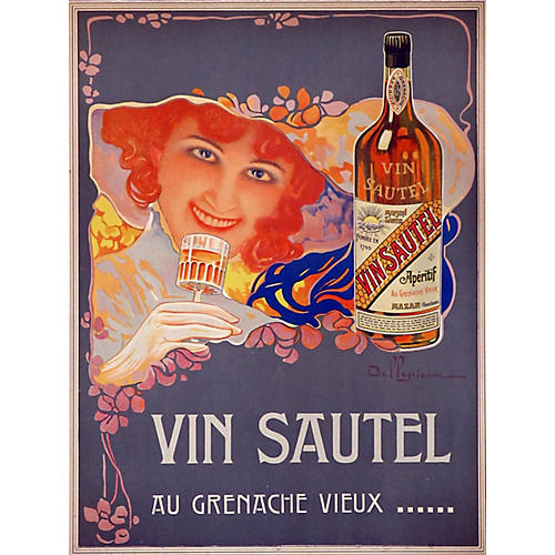 1910 French Wine Poster