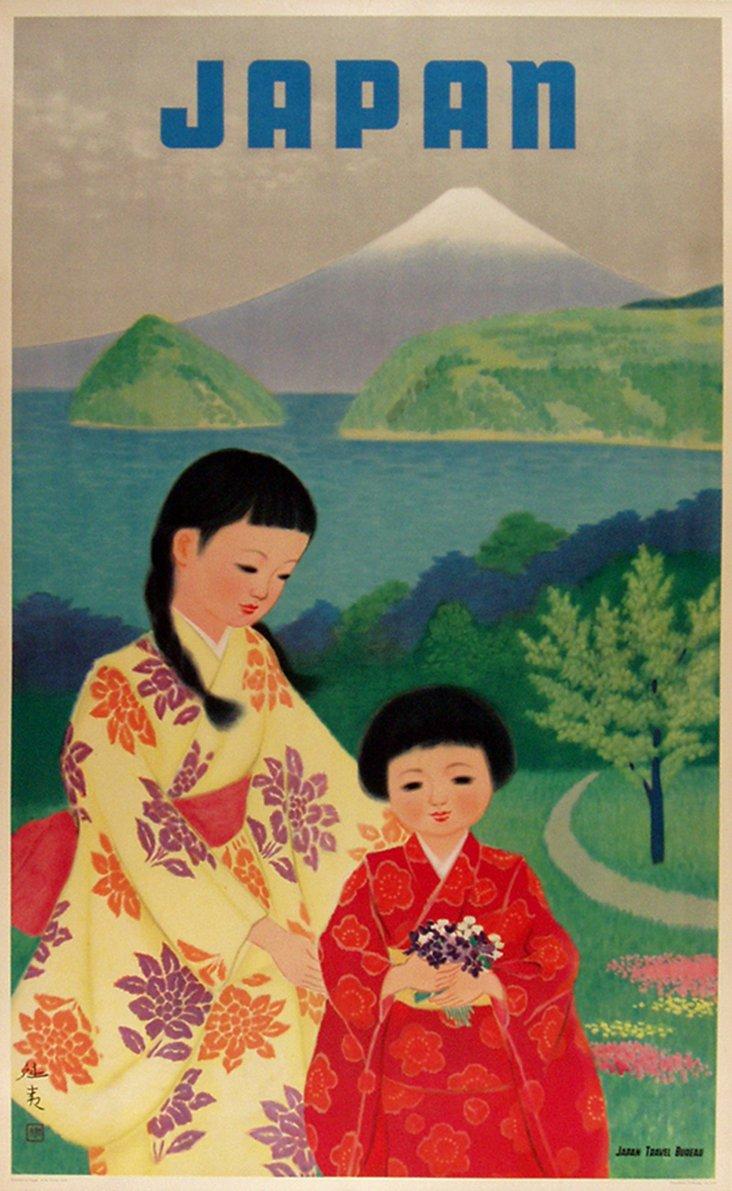 Original Travel Poster Japan