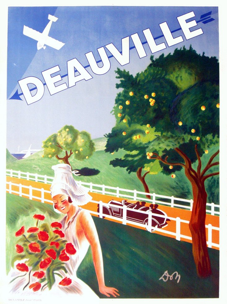 French Deauville Poster