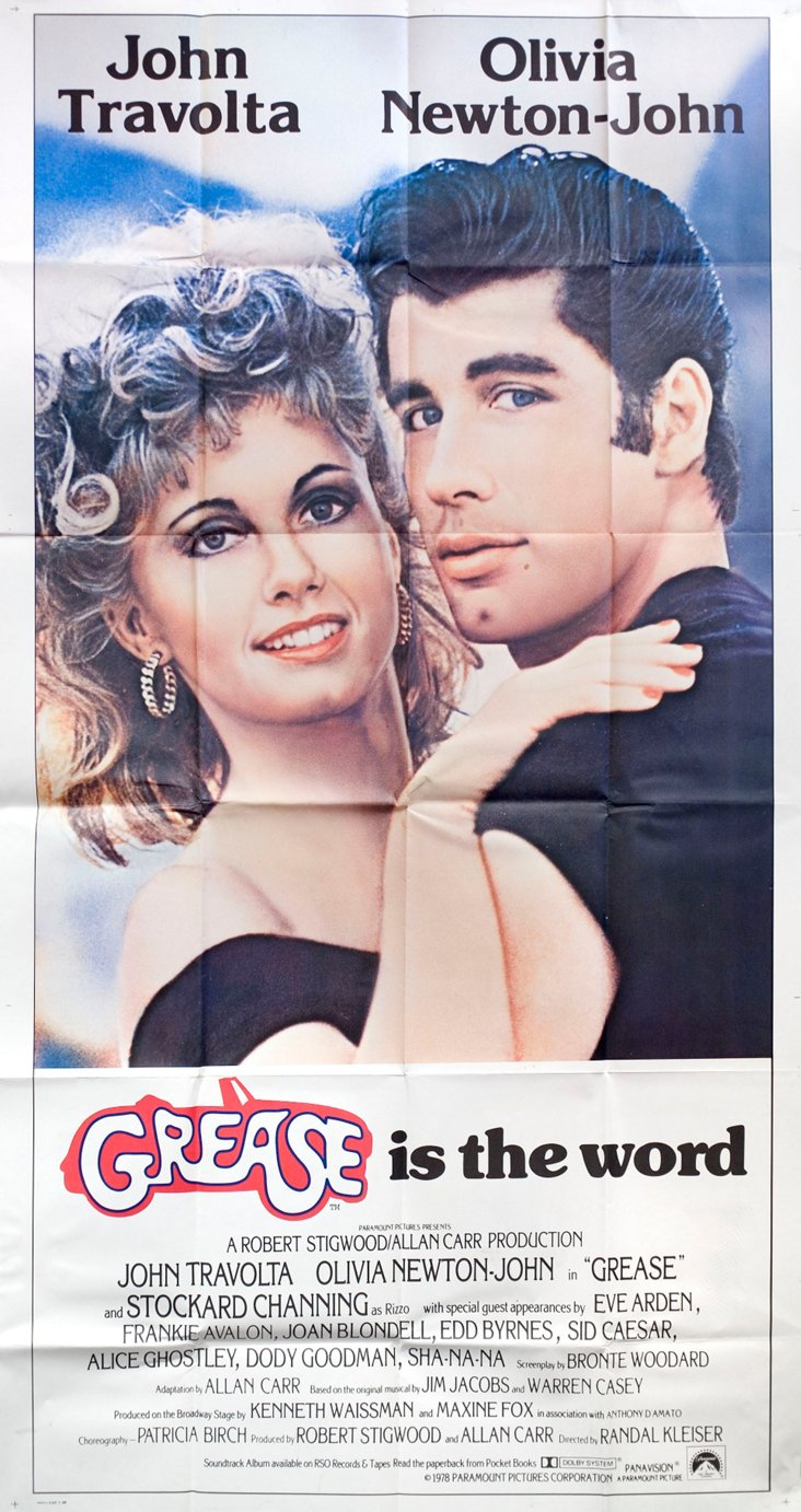 Grease Movie Poster, 1978