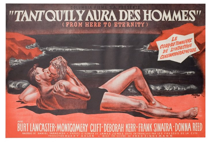 French From Here to Eternity Poster