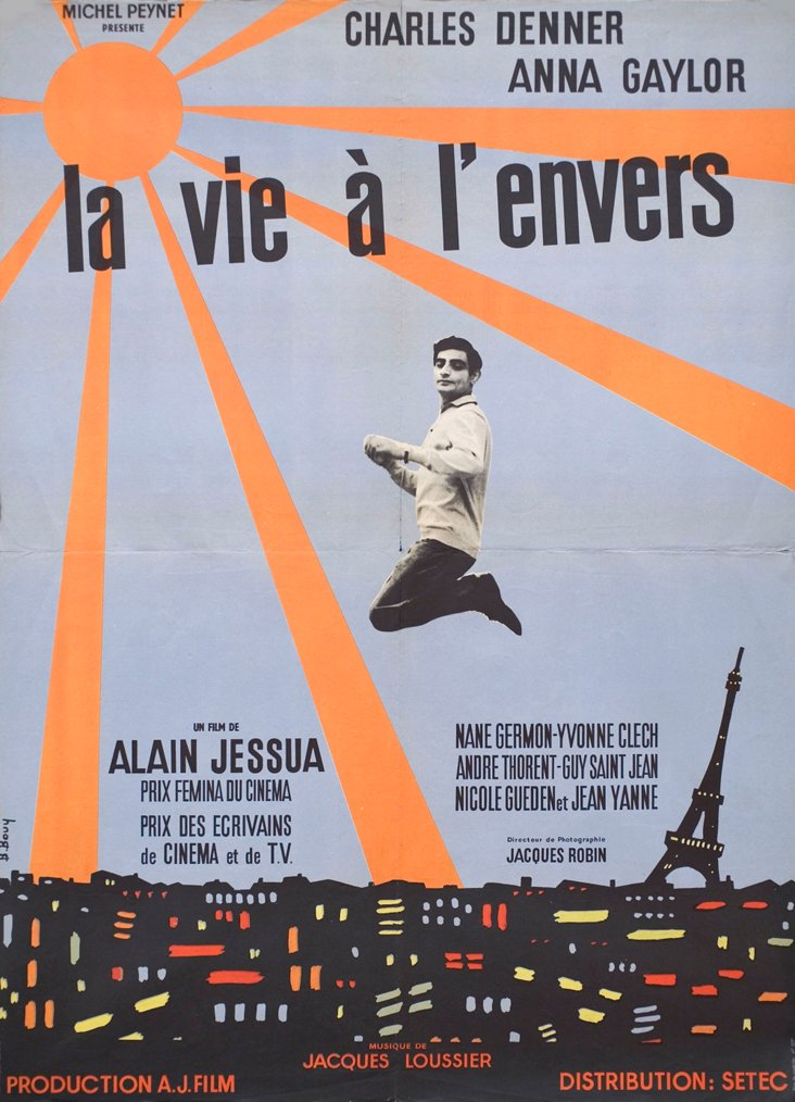 French Life Upside-Down  Poster, 1964