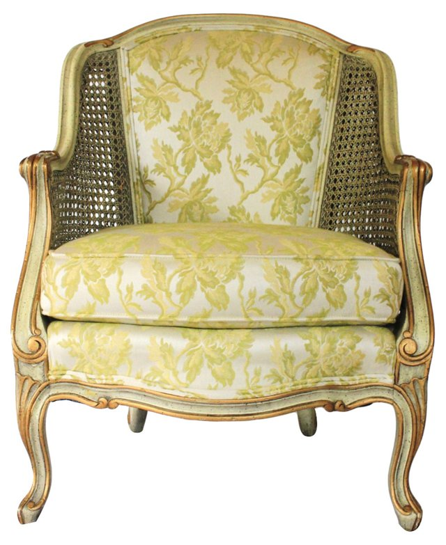 Louis XV-Style  Caned Chair