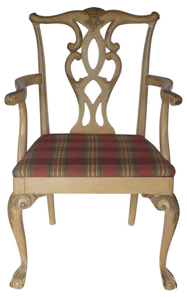 Chippendale-Style  Painted Chair