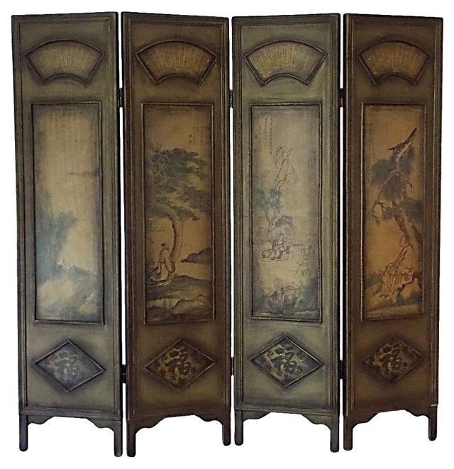 Asian Wood Screen