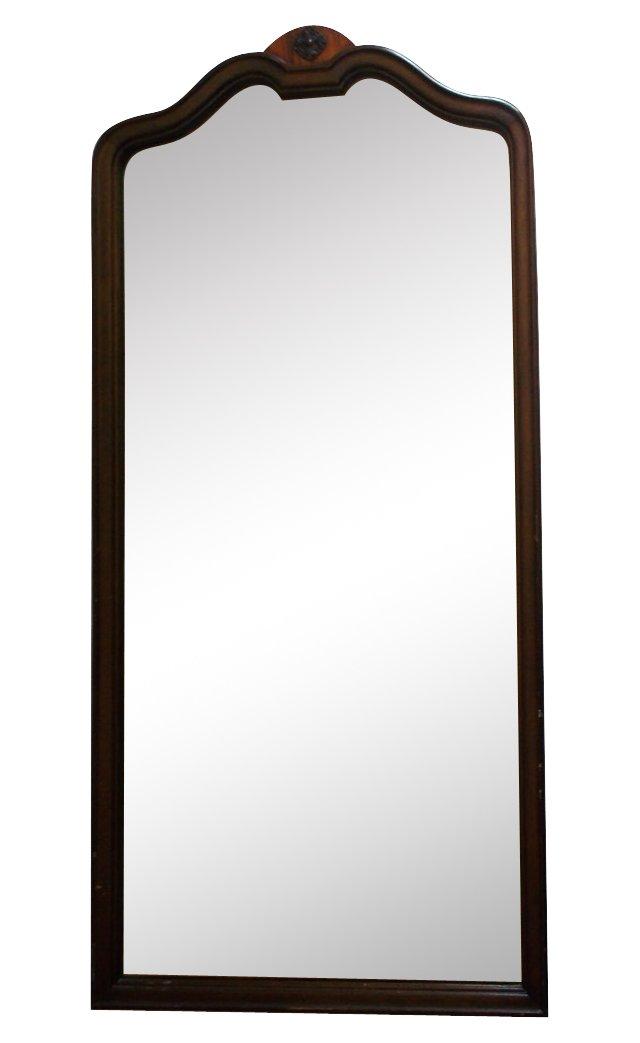 19th-C. Walnut Mirror